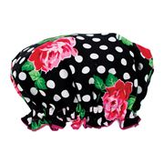 AT - Lucy Black Shower Cap