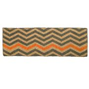 Doormat Designs - Orange Chevron Doormat