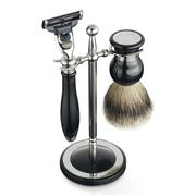 Dalvey - Classic Black Shaving Set & Stand