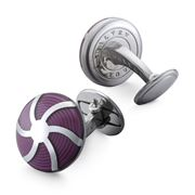 Dalvey - Coriolis Purple Cufflinks
