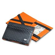 Dalvey - Carbon Fibre & Orange Flip Wallet