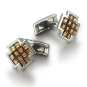 Dalvey - Signature Crux Cufflinks w/ Copper Crystals