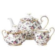 Royal Albert - 100 Years 1940s English Chintz Teapot Set 3pc