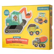 Mudpuppy - Touch & Feel Construction Puzzle 12pce