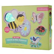 Mudpuppy - Touch & Feel In the Garden Puzzle 12pce
