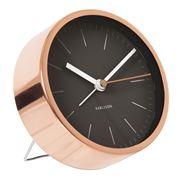 Karlsson - Minimal Black Alarm Clock with Copper Case