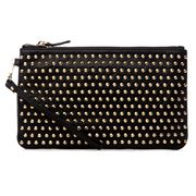 Mighty Purse - Studded Black Purse w/ Charger and Adaptor
