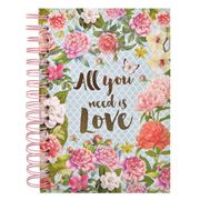 Art In Motion - All You Need Is Love Spiral Notebook