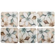 Cinnamon - Ocean Frangipani Coaster Set 6pce