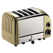Dualit - NewGen Brass 4 Slice Toaster