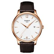 Tissot - Tradition Rose Gold Watch w/Brown Leather Strap