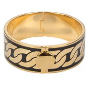 Halcyon Days - Curb Chain Deep Black & Gold Bangle