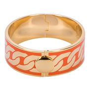 Halcyon Days - Curb Chain Orange & Gold Bangle