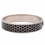 Halcyon Days - Honeycomb Black & Palladium Bangle