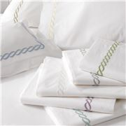 Matouk - Classic Chain Quilt Cover White Queen