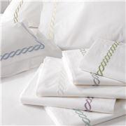 Matouk - Classic Chain Flat Sheet Ivory Full Queen