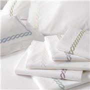Matouk - Classic Chain Ivory King Pillowcase Set 2pce