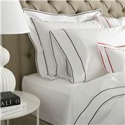 Matouk - Ansonia Charcoal European Sham Pillowcase