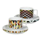 Magpie - Viva Chevron & Diamond Teacup and Saucer Set 2pce