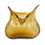 Magpie - The Modern Home Edie Owl Small Amber Vase