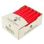 Price's Candles - Tapered Red Dinner Candle 50pk