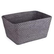 Rattan - Blackwash Large Storage Basket