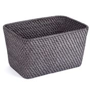 Rattan - Blackwash Small Storage Basket