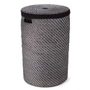 Rattan - Laundry Hamper Large Blackwash