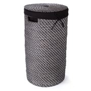Rattan - Blackwash Laundry Hamper Medium