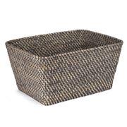 Rattan - Greywash Large Storage Basket