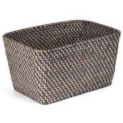 Rattan - Greywash Small Storage Basket