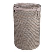 Rattan - Greywash Laundry Hamper Large