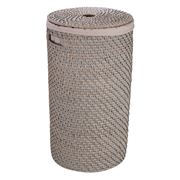 Rattan - Greywash Medium Laundry Hamper