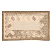 Kenware - Caprice Brown Greek Key Doormat 45x75cm
