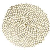 Chilewich - Dahlia Round Placemat Brass