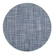 Chilewich - Basketweave Round Placemat Denim 38cm