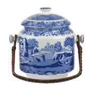 Spode - 200th Anniversary Blue Italian Biscuit Barrel