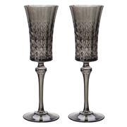 Cristal D'Arques - Lady Diamond Grey Champagne Flute Set 2pc
