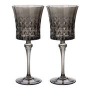Cristal D'Arques - Lady Diamond Grey Wine Set 270ml/2pce