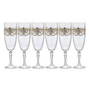 Cristal D'Arques - Dampierre Gold Champagne Flute Set 6pce