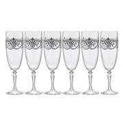 Cristal D'Arques - Dampierre Silver Champagne Flute Set 6pc