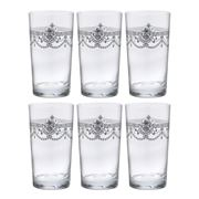 Cristal D'Arques - Dampierre Silver Highball Tumbler Set 6pc