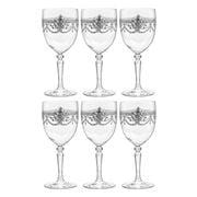 Cristal D'Arques - Dampierre Silver Wine Set 260ml/6pce