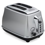 DeLonghi - Icona Two-Slice Toaster CTO2003 Silver