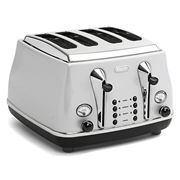 DeLonghi - Icona Silver Four-Slice Toaster