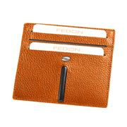 Fedon - Ulisse Orange Card Holder For Six Cards