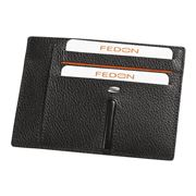 Fedon - Ulisse Black Card Holder For Eight Cards