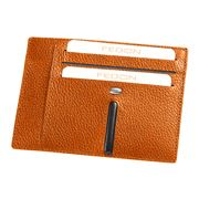 Fedon - Ulisse Orange Card Holder For Eight Cards