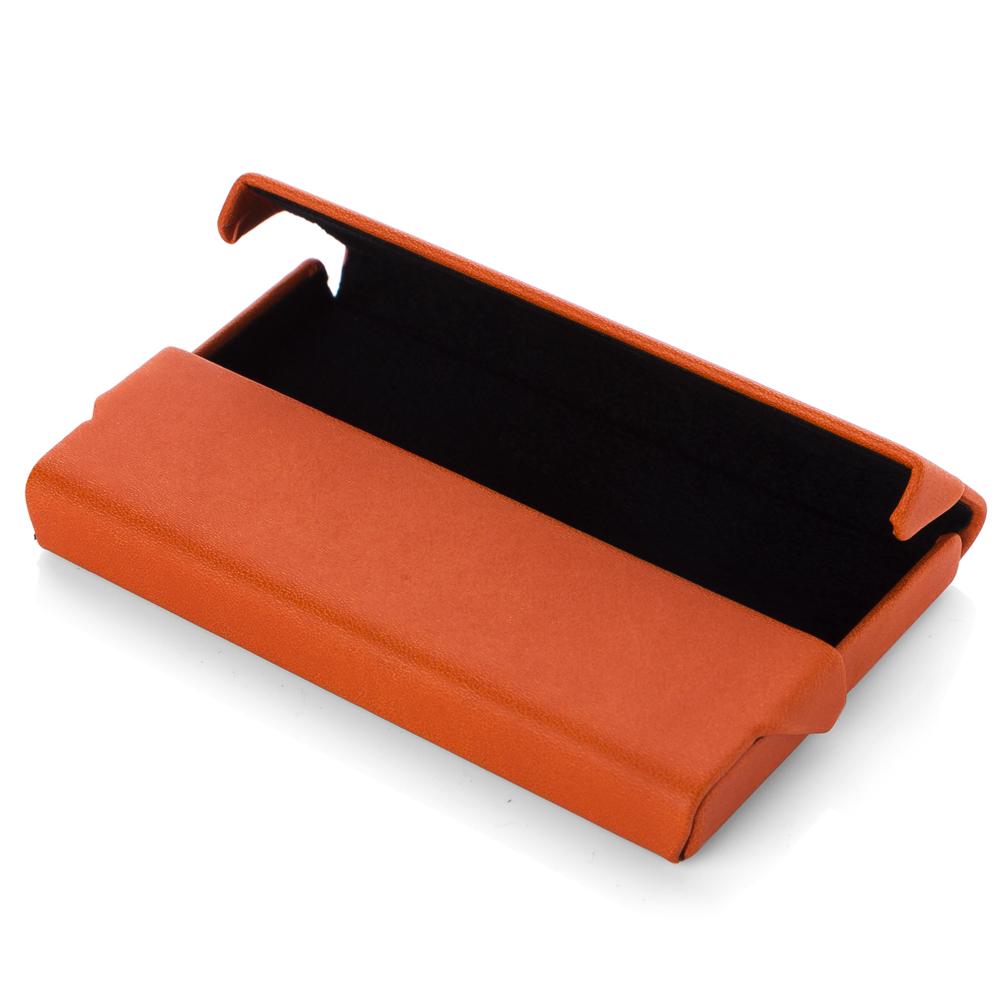 Fedon horizontal business card holder orange black for Orange business card holder