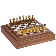 Italfama - Alabaster & Wood Chess Set